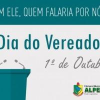 1º DE OUTUBRO DIA DO VEREADOR
